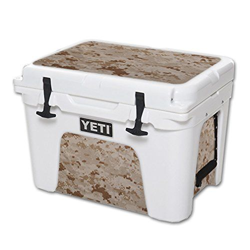 MightySkins Protective Vinyl Skin Decal for YETI Tundra 35 qt Cooler wrap cover sticker skins Desert Camo -- For more information, visit image link.(This is an Amazon affiliate link and I receive a commission for the sales)