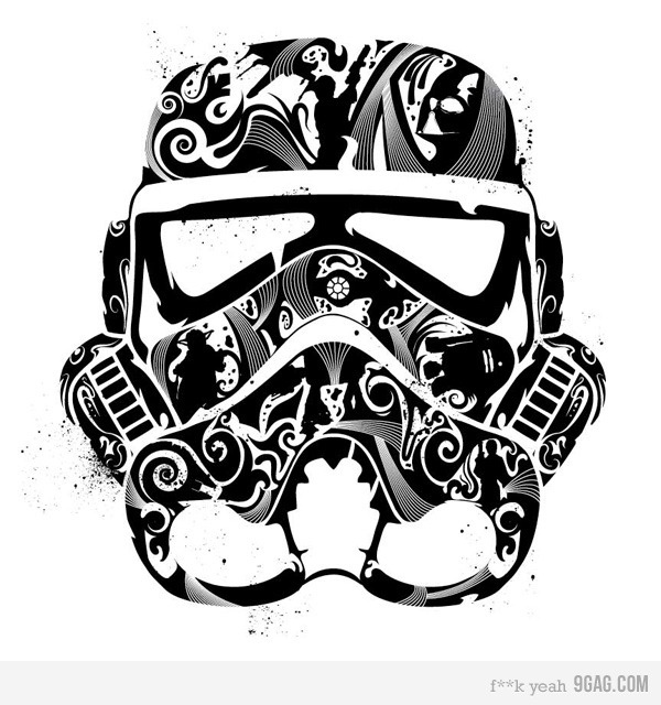 Day of the Dead Star Wars Stormtrooper - Look closely