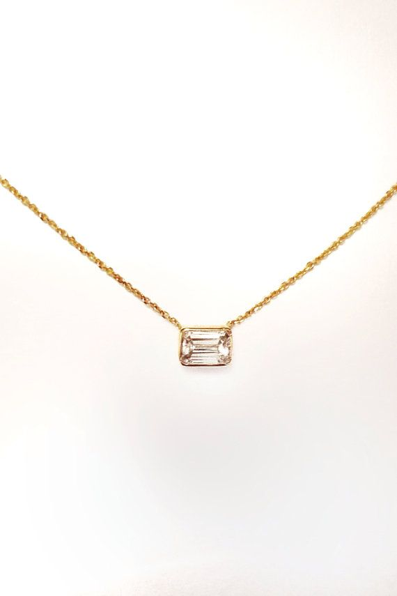 284 best jewelry images on pinterest diamond rings diamond 14k gold 45 carat emerald cut diamond necklace currently out of stock aloadofball Choice Image