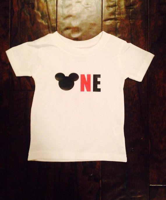 Minnie mickey mouse one 1 year old 1st 2nd two birthday for Cool t shirts for 12 year olds