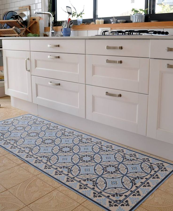 White Kitchen Floor Mats: Beija Flor Mat, Barcelona Model