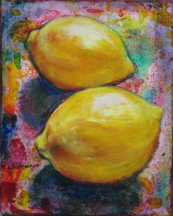 """""""Lemons"""" 8"""" x 10"""" www.sheiladiemert.com I've done many still life paintings. This brings an appreciation for the beauty of fruits and vegetables--even turnips!"""