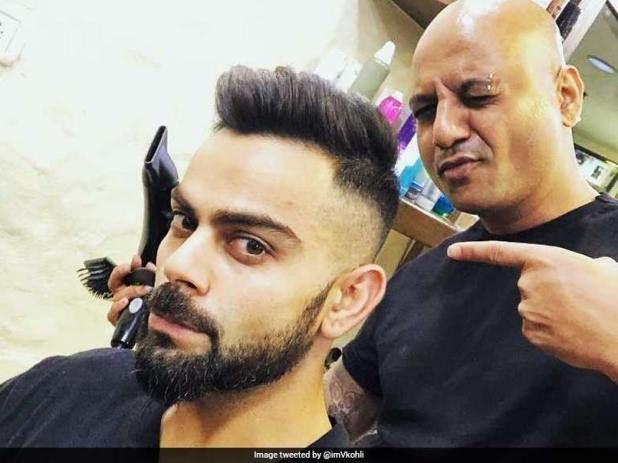 Virat Kohli Flaunts His New Hairstyle Ahead Of Ipl 2018 Virat Kohli Hairstyle Boy Hairstyles Hair And Beard Styles