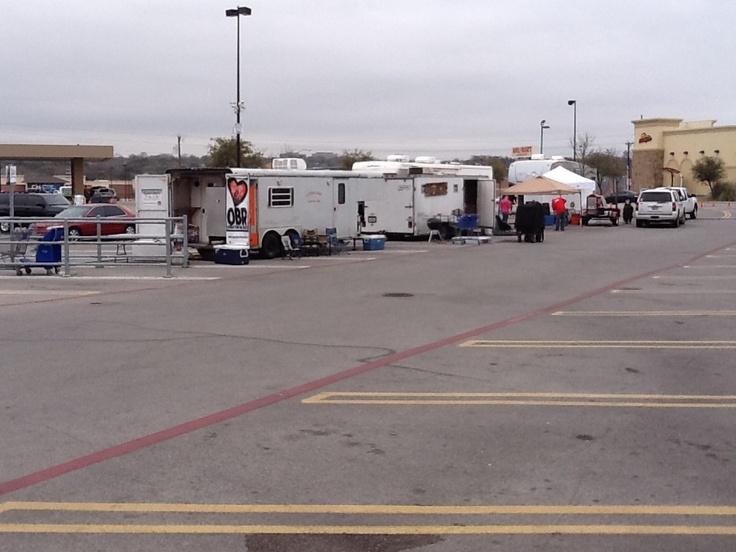 Load in Westworth Village, TX (Caveman Cuisine in foreground).