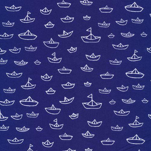 The Fleet   Navy from Seven Seas by Michéle Brummer Everett for Cloud9 Fabrics