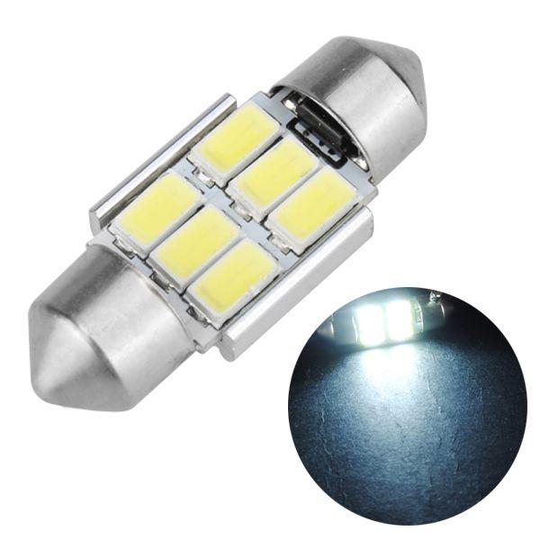 31mm Festoon 5630 6smd Canbus Error Free Car White Led Interior Dome Light Bulb Dome Lighting White Lead Bulb