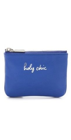 Rebecca Minkoff Holy Chic Cory Pouch. A playful Rebecca Minkoff pouch with metallic 'holy chic' lettering.