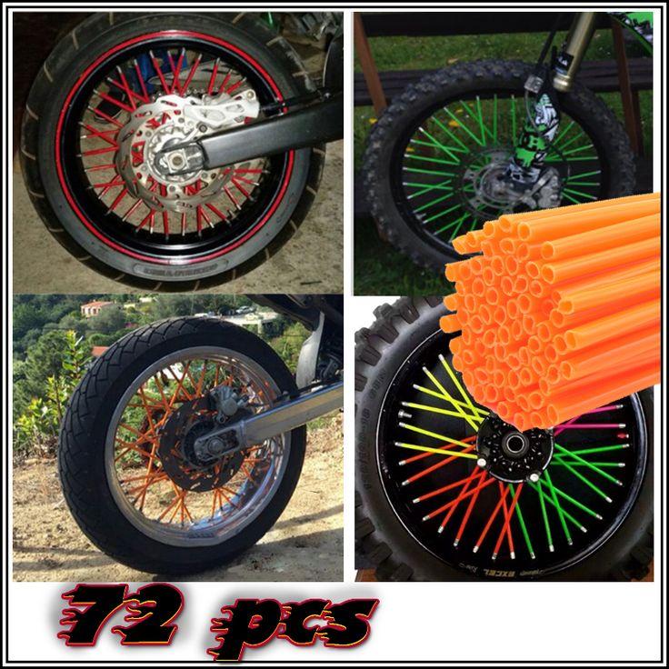 Universal Motorcycle Dirt Bike Enduro Off Road Wheel Rim Spoke Shrouds Skins Covers For YAMAHA KAWASAKI bmw KTM HONDA tmax mt07 //Price: $10.49 & FREE Shipping //     #hashtag1