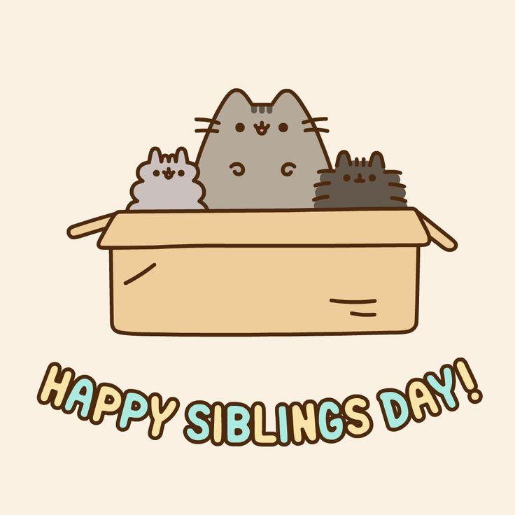 Pusheen the cat // happy siblings day!