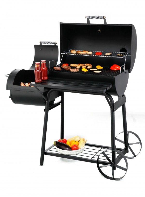 Tepro Biloxi Smoker Grillwagen Barbecue  Met de Biloxi bbq kun je verschillende barbecue mogelijkheden combineren. Zo kun je je etenswaren tradiotioneel grillen direct boven het houtskool. Of je kunt er voor kiezen om je vlees te roken door de rook uit de bijrookkamer. De smoker is hier speciaal op ontworpen. In de kleinere bijrookkamer ontwikkelt zich rook door het verbranden van hout. Deze rook stijgt op en komt in de grotere ovenruimte waar de te grillen etenswaren liggen. De rook vindt…