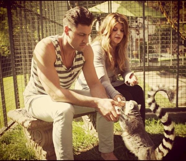 Kirstie and Maks ~ He matches the lemur!