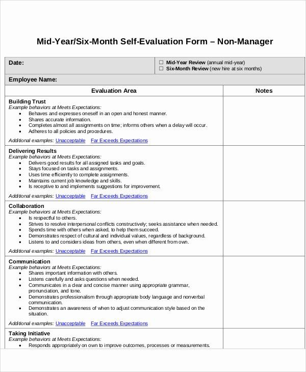 self performance review template new 7 employee self