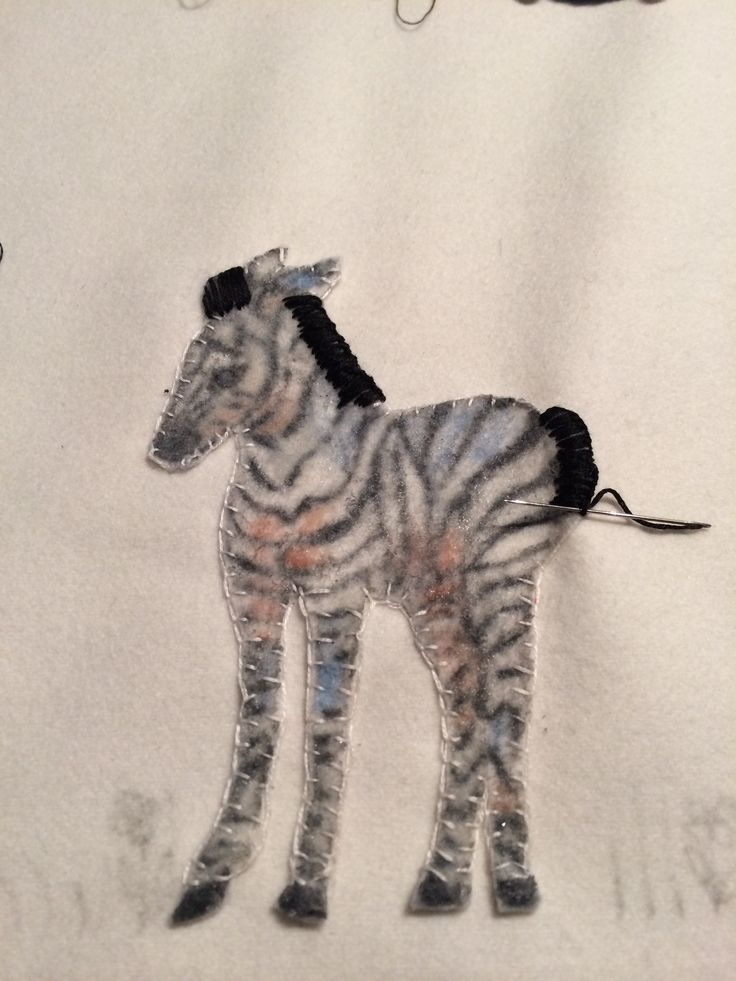 Woollen Jungle blanket being created with hand painted Zebra by Marion.