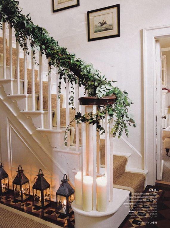 Great 50 Unique Fall Staircase Decor Ideas