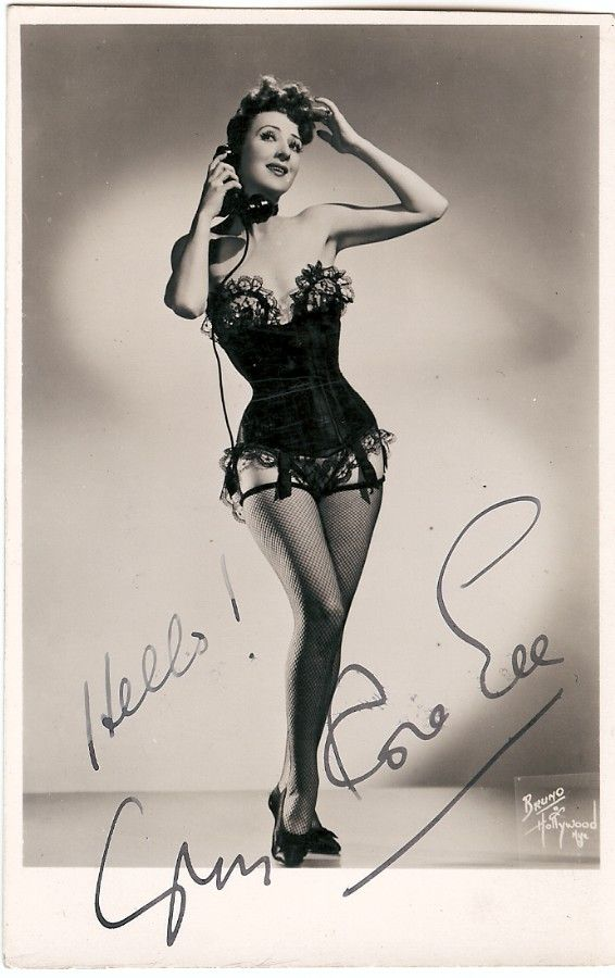 Gypsy Rose Lee Autograph Signed Photo Burlesque