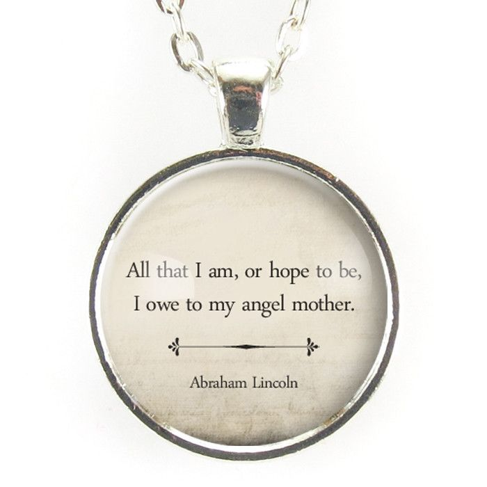 Inspirational Abraham Lincoln Quote Necklace