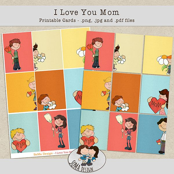 SoMa Design: I love you Mom - Cards