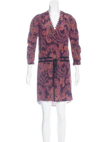 Veronica Beard Silk Paisley Print Dress