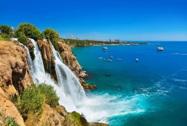 Duden Waterfalls in Antalya, Turkey