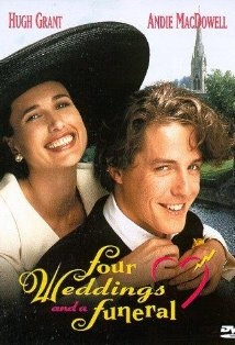 "Four Weddings and a Funeral (1994) - Hugh Grant, Andie MacDowell & James Fleet - The film follows the fortunes of Charles and his friends as they wonder if they will ever find true love and marry. Charles thinks he's found ""Miss Right"" in Carrie, an American. This British subtle comedy revolves around Charlie, his friends and the four weddings and one funeral which they attend."