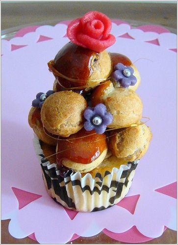 croquembouche cupcake: Cupcakes Galor, Cupcakes Design, Choux Pastries, Chouxper Cupcakes, Cupcakes Boss, Cupcakes Recipes, Eating Cupcakes, Cups Cakes, Croquembouch Cupcakes