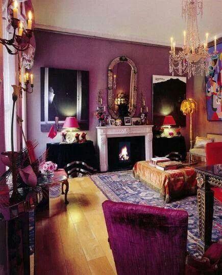 lavender purple boho room