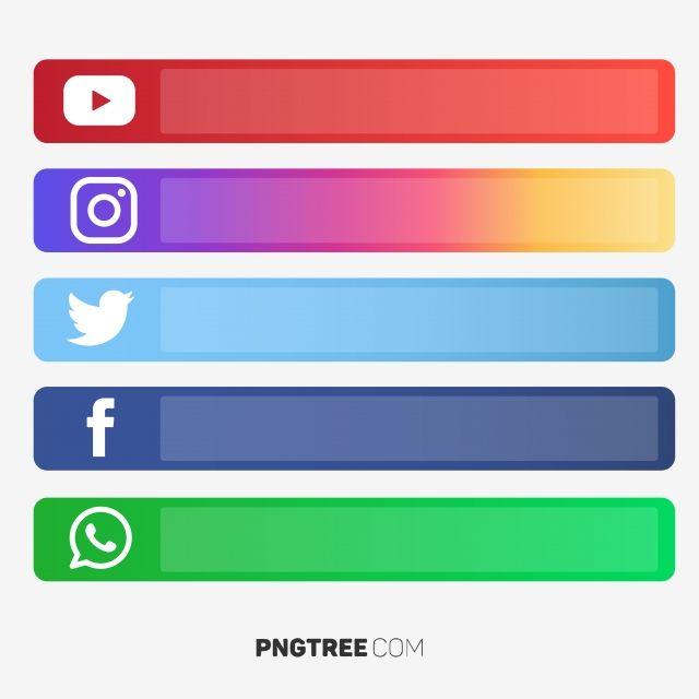 Social Media U Button Vector Social Media S Social Media
