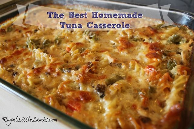 The Best Homemade Tuna Casserole with no canned soup! Tried this last week and it's absolutely delicious!!