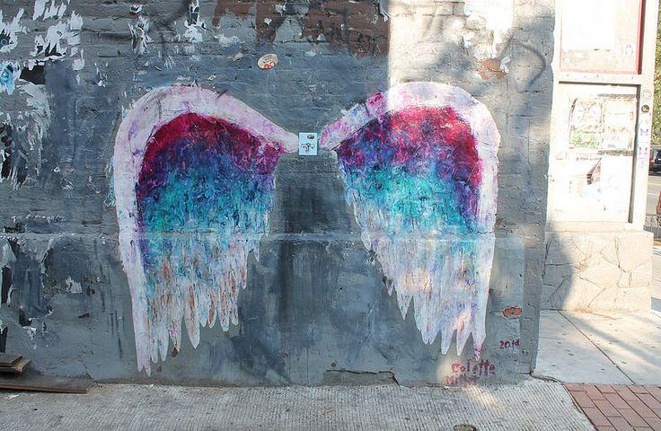 Colette Miller Angel Wings Mural 1357 U Street Alley