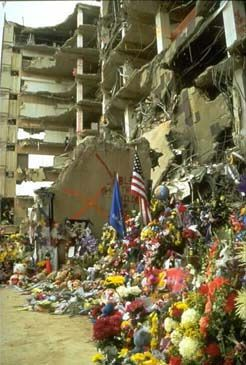 McVeigh and Nichols cited the federal government's actions against the Branch Davidian compound in the 1993 Waco Siege (shown above) as a reason they perpetrated the Oklahoma City bombing