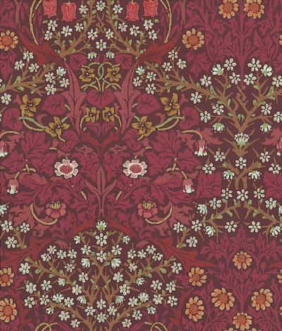 Blackthorn (WM8610/2) - Morris Wallpapers - A flat, traditional wallcovering suitable for use in most rooms but not recommended for use in kitchens or bathrooms. Coordinating printed fabrics and weaves also available � please ask for details.