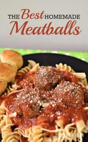 Yum! Learn how to make meatballs. This is the best homemade meatball recipe ever. by greatgrandma1011