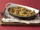 The only green bean casserole the hubs will eat.  Must make with fresh green beans, makes all the difference.