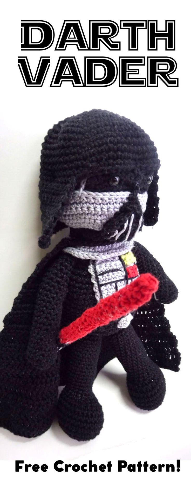 Darth Vader amigurumi, Darth Vader crochet, Darth Vader crochet pattern, Darth Vader free crochet pattern, Star Wars amigurumi, Star Wars crochet, Star Wars crochet pattern, Star Wars free crochet pattern, Darth Vader crochet toy, Star Wars crochet toy, Darth Vader amigurumi doll, Star Wars amigurumi doll
