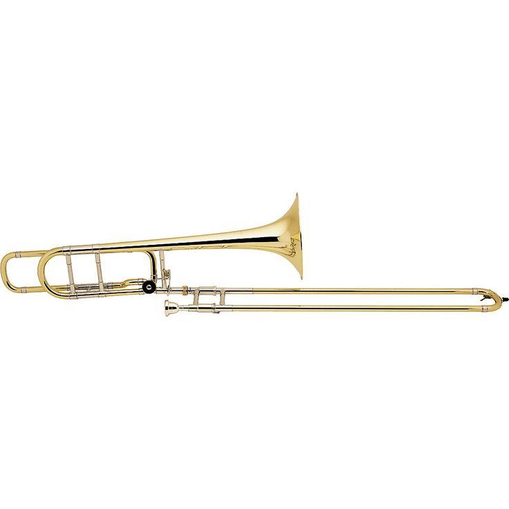 Bach 42BO Stradivarius Series F-Attachment Trombone Lacquer Yellow Bra