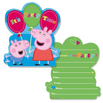 Peppa Pig Invitation Cards