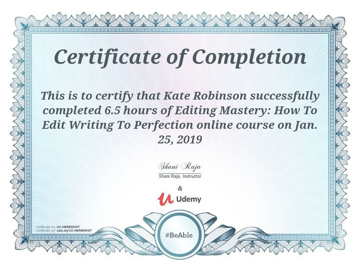 udemy certificate course completion excel certificates microsoft cryptography artneo courses concluido photoshop advanced
