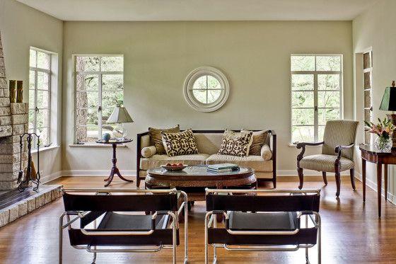 Diseño de sala de casa rústica