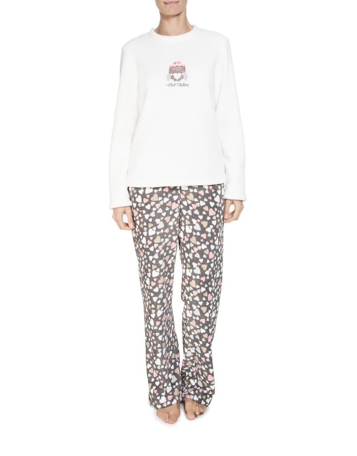 Hearts Fleece Pyjamas