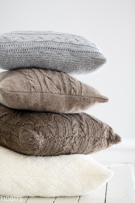 Have some old sweaters lying around? Repurpose them into pillows with this fun DIY project from Tidbits! This easy sewing project will keep your home cozy all year round.