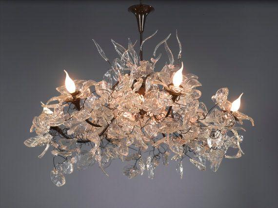 Beleuchtung hängenden Kronleuchter - Royal Chandeliers - transparenten Blätter und Blumen
