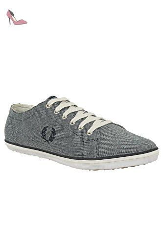 baskets mode fred perry b1195 kingston bleu 45 - Chaussures fred perry (*Partner-Link)
