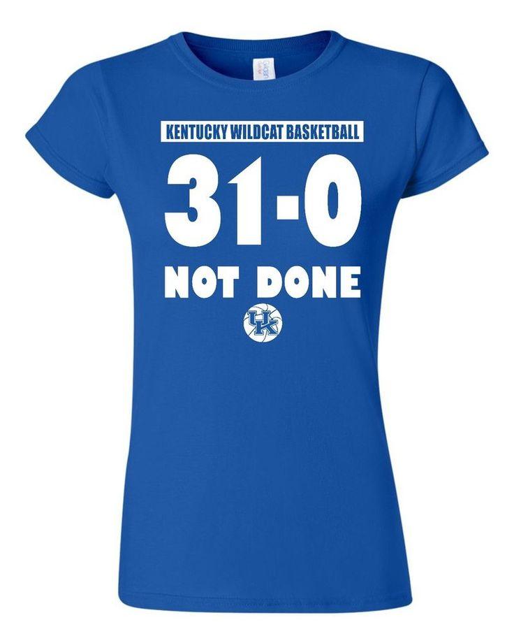 Kentucky Wildcats Womens Tshirt Tee University of Kentucky College Basketball