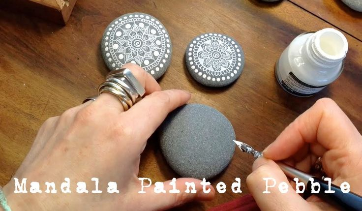 WATCH ME PAINT...mandala painting and drawing tutorial that you can use for painting rocks..step by step written instructions!