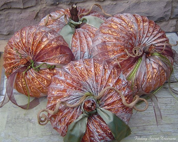 Fall craft: Pumpkins from Dryer Vents