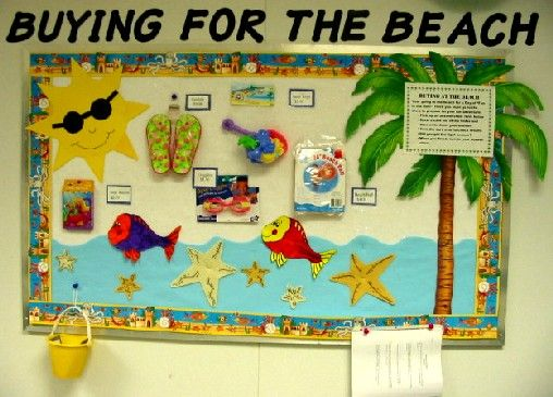 June Classroom Ideas : Beach bulletin board theme pinterest