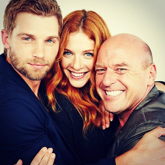 Mike Vogel, Rachelle Lefevre, and Dean Norris