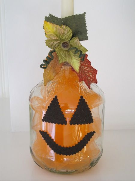 Pumpkin Project – repurpose a bottle into Precious Pumpkin decor   Pinned by www.minivanmaverick.com