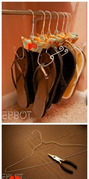 schoenen en slippers netjes opruimen