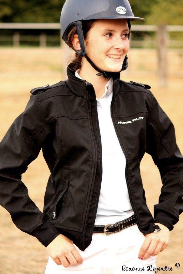 Equestrian Fashion : crash test blouson Horse Pilot